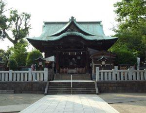 不動前駅前商店街を抜けた場所にある「西五反田氷川神社」